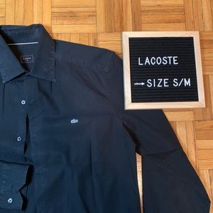 Lacoste Men's Dress Shirt Black Premium Designer